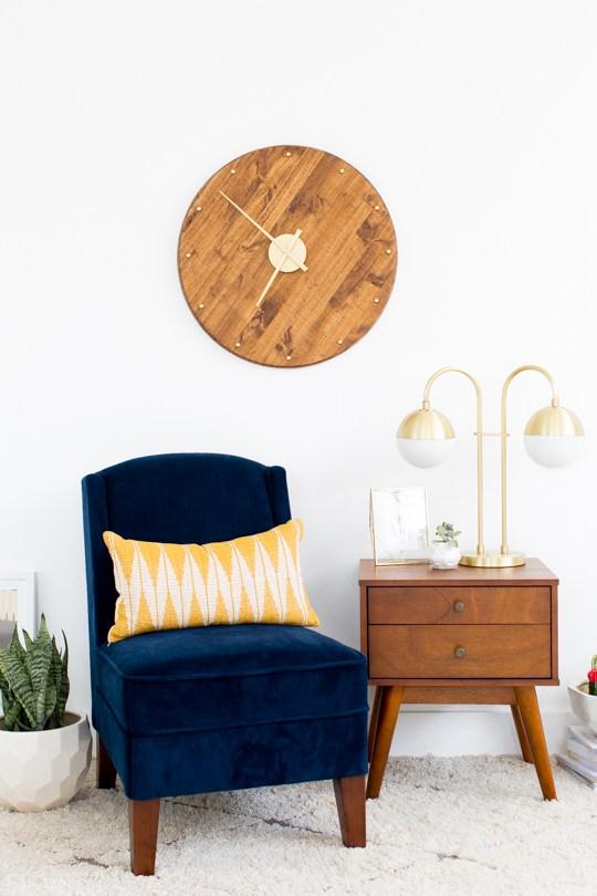 DIY Wall Clock from Sugar & Cloth