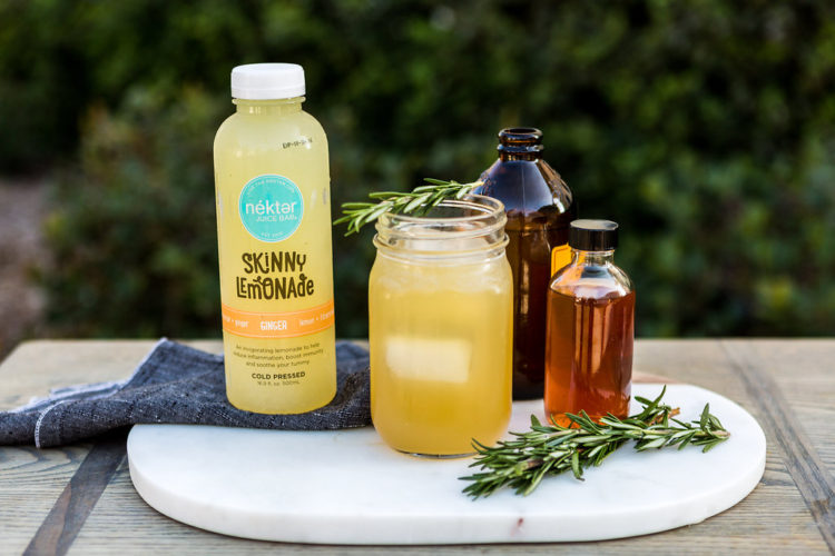Lemon Ginger Bourbon Fizz Cocktail