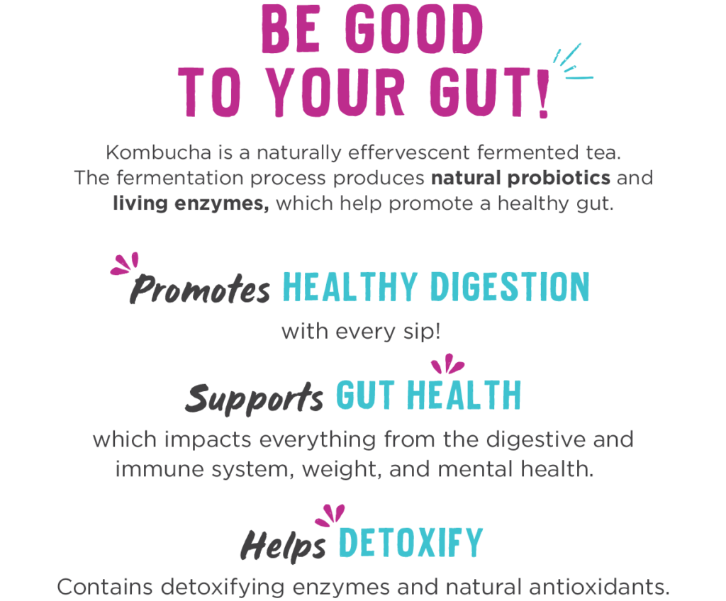 Be good to your gut with kombucha